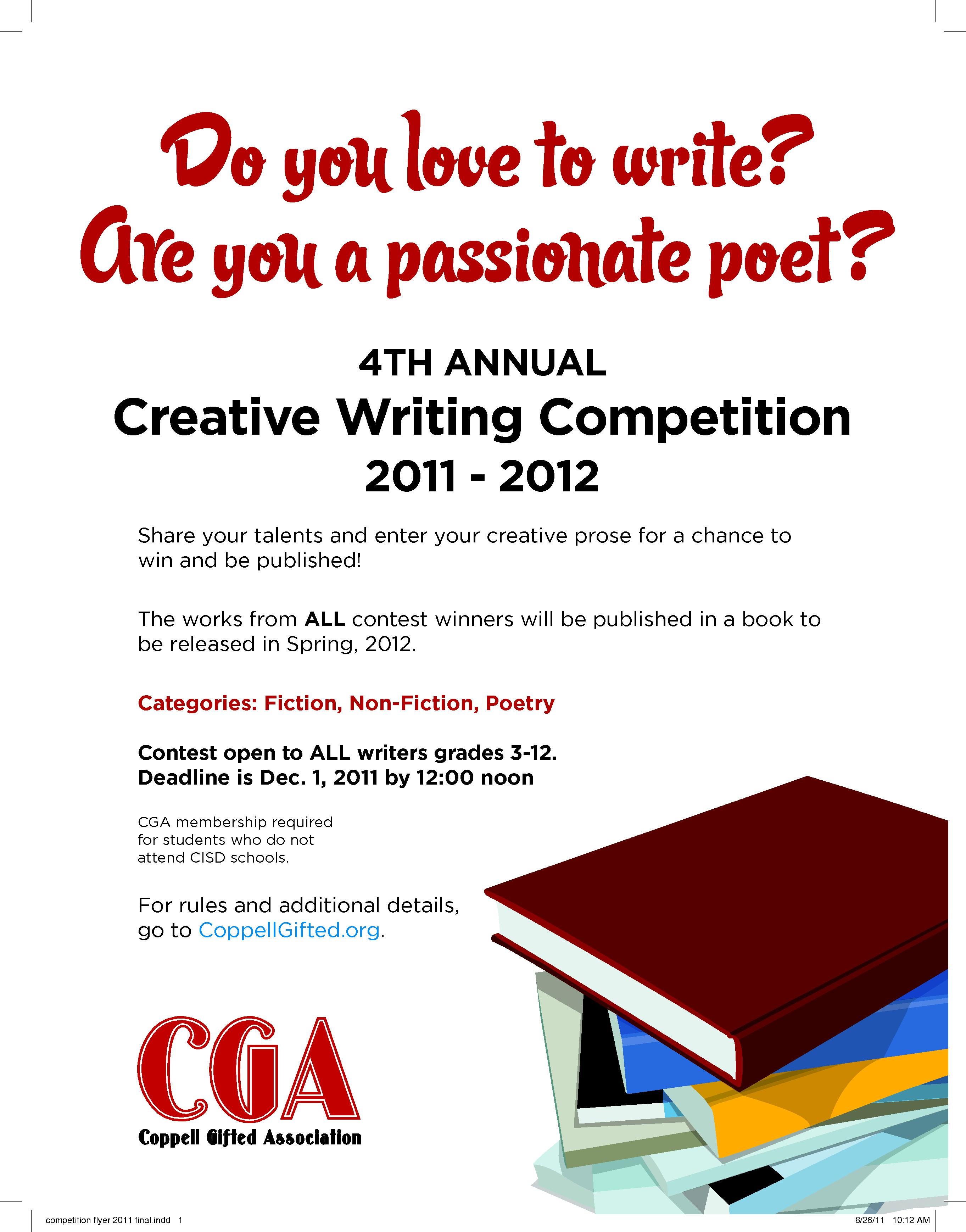 nonfiction essay contest 2011 Enter the mayborn writing competition for a chance to win our reported narrative contest and our personal essay a literary nonfiction journal published by.