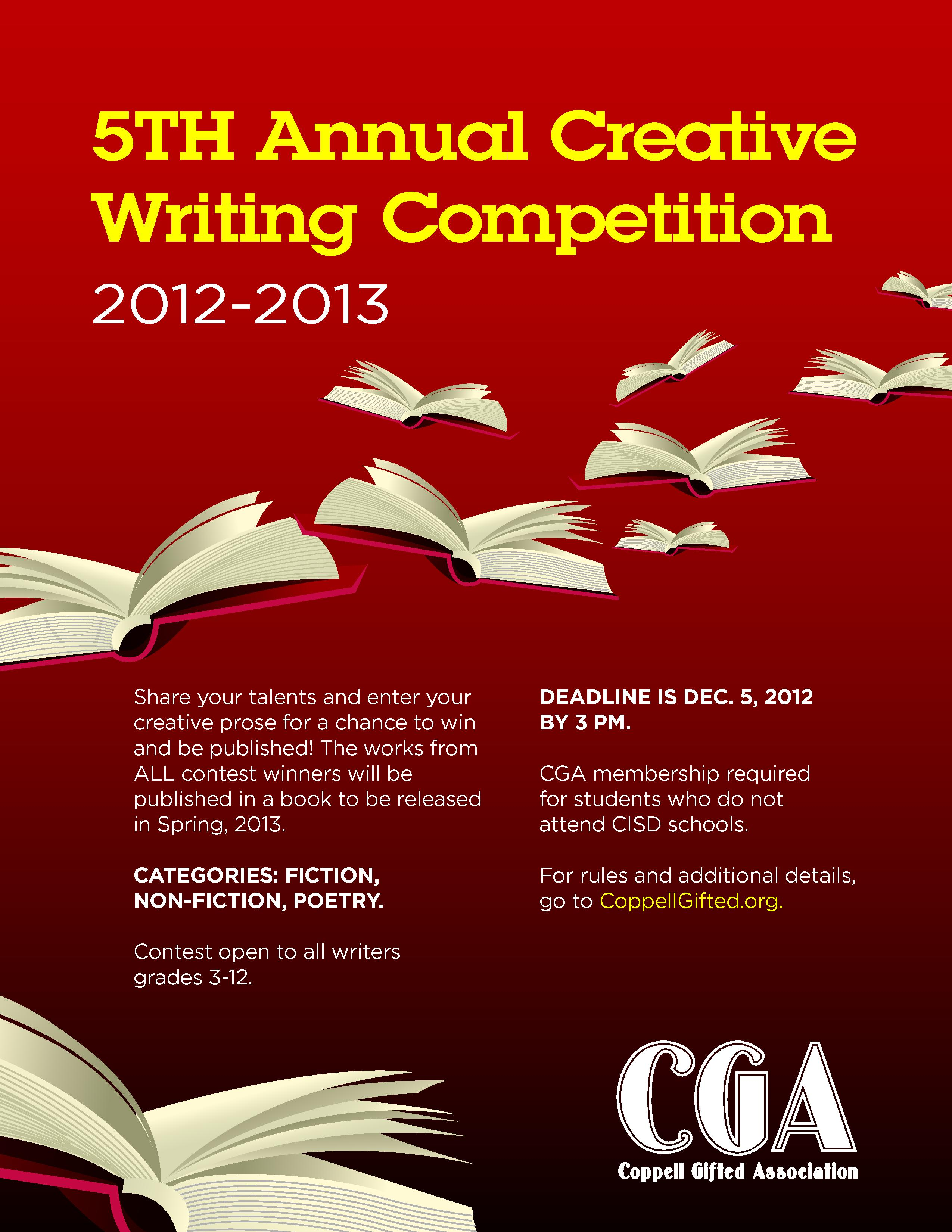 Writing Contests in 2018