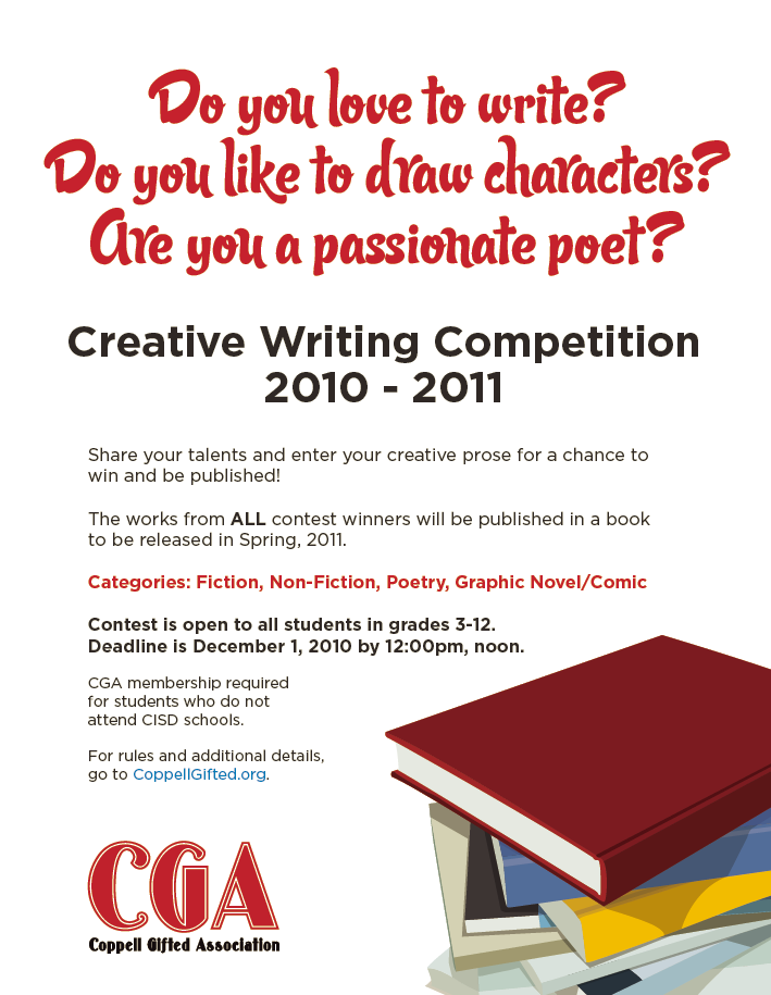 creative writing competitions for high school students 2015 Creative writing competition is open to both primary and high school pupils whose school is a member of their local branch of sacee, johannesburg's creative.