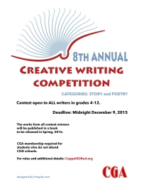 2015-16 Creative Writing Poster